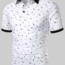 Camisa polo con estampado de golondrina