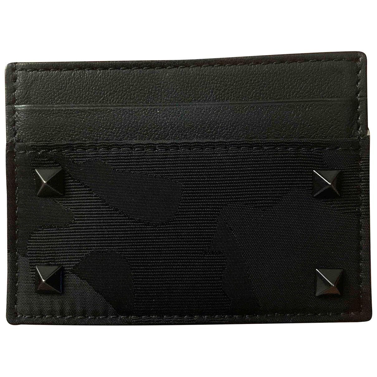 Valentino Garavani - Petite maroquinerie   pour femme en toile - noir
