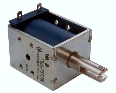 Deltrol Linear Solenoid Actuator, 12 V dc, 31.1N, 2.2 (Stroke N @ 0.75 in), 39.18 x 50.7 x 41.28 mm