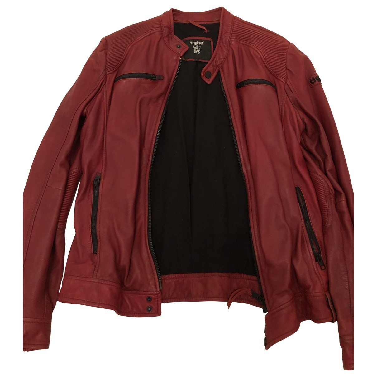 Non Signé / Unsigned \N Red Leather jacket  for Men L International