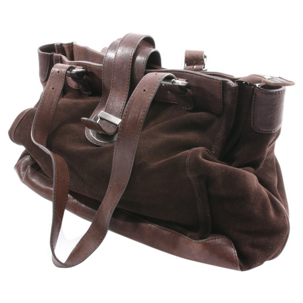 Autre Marque \N Handtasche in  Braun Leder
