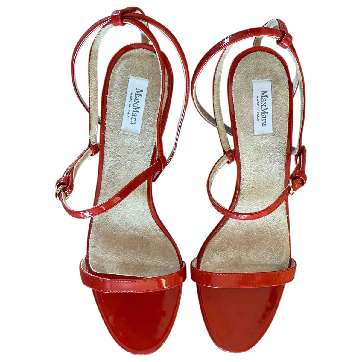 Max Mara \N Red Leather Sandals for Women 39 EU