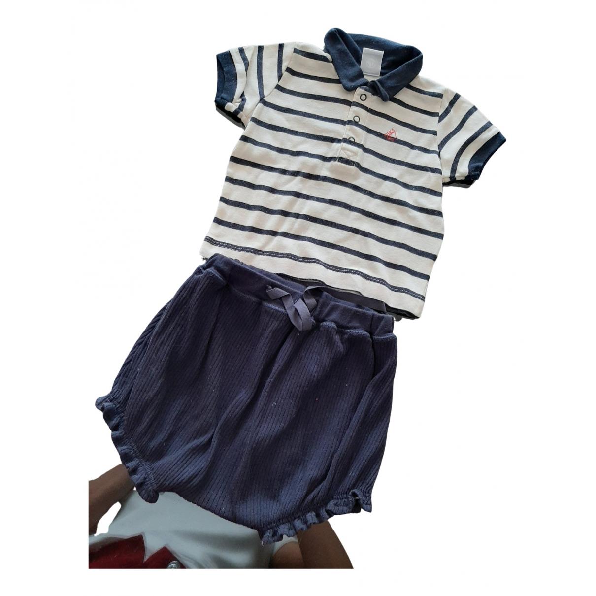 Petit Bateau - Les ensembles   pour enfant en coton - bleu