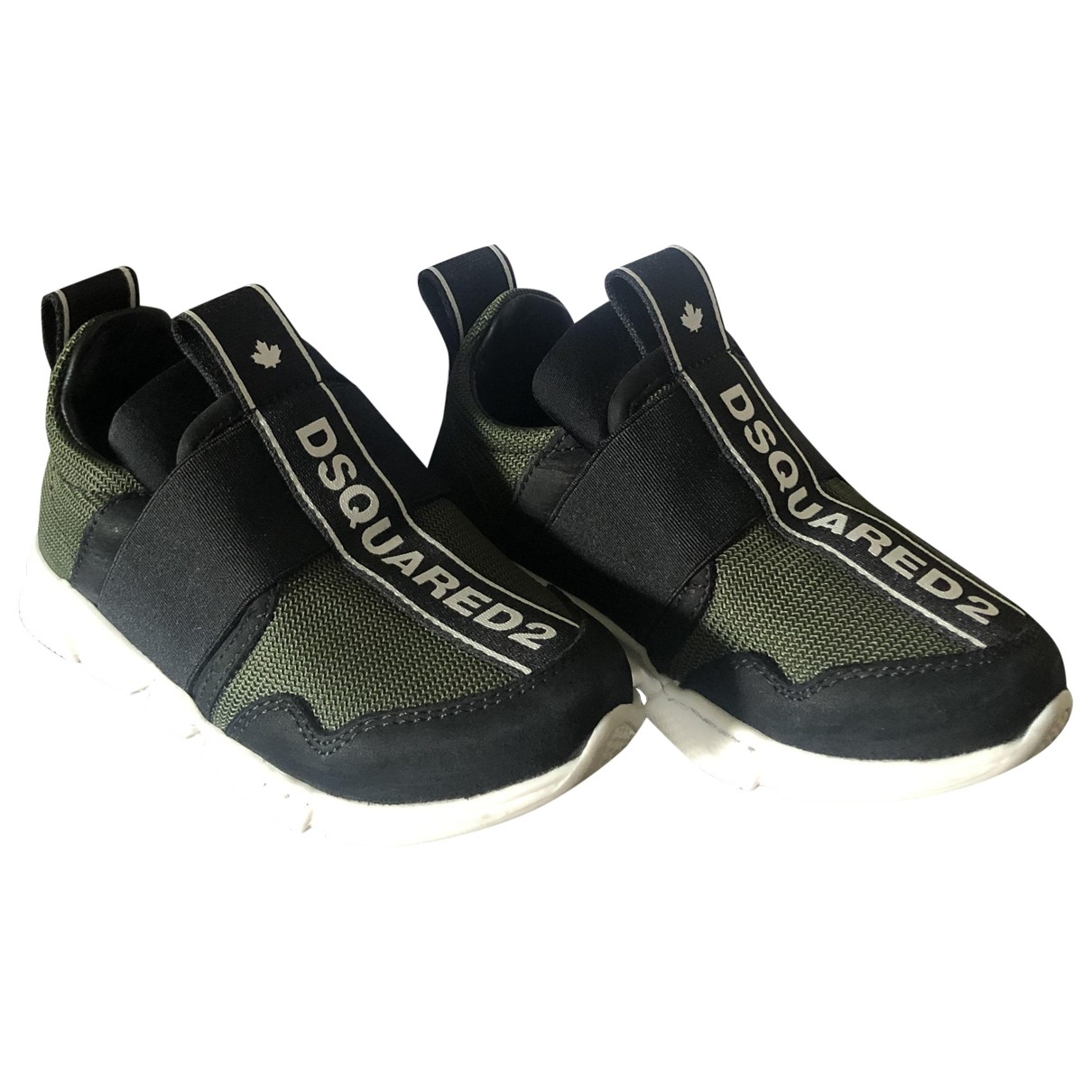 Dsquared2 \N Green Leather Trainers for Kids 25 EU
