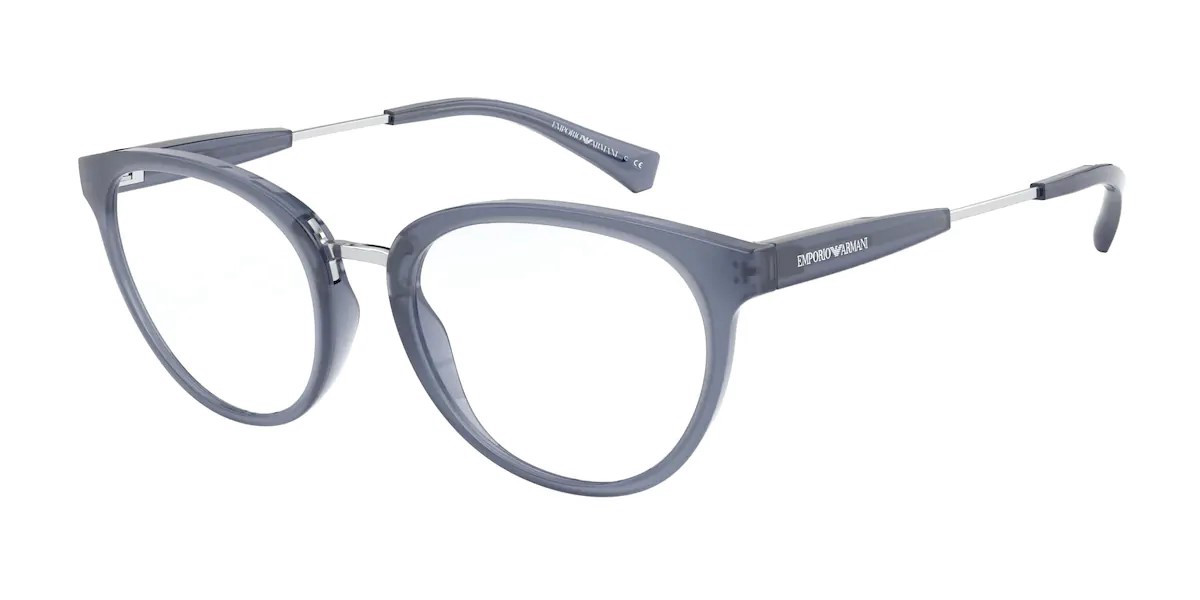 Emporio Armani EA3166F Asian Fit 5831 Women's Glasses Blue Size 53 - Free Lenses - HSA/FSA Insurance - Blue Light Block Available