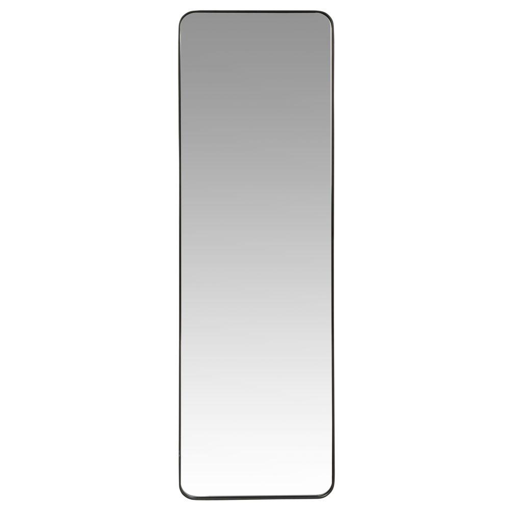 Spiegel mit schwarzem Metallrahmen 30x129