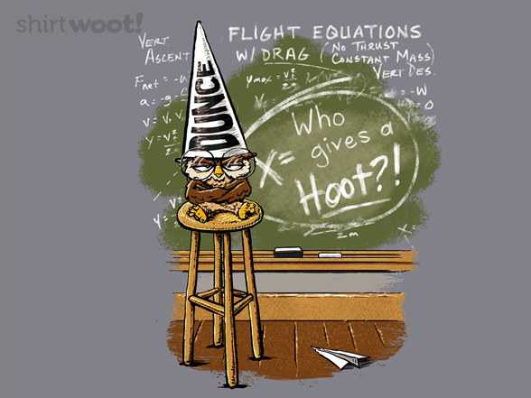 X = Who Gives A Hoot T Shirt
