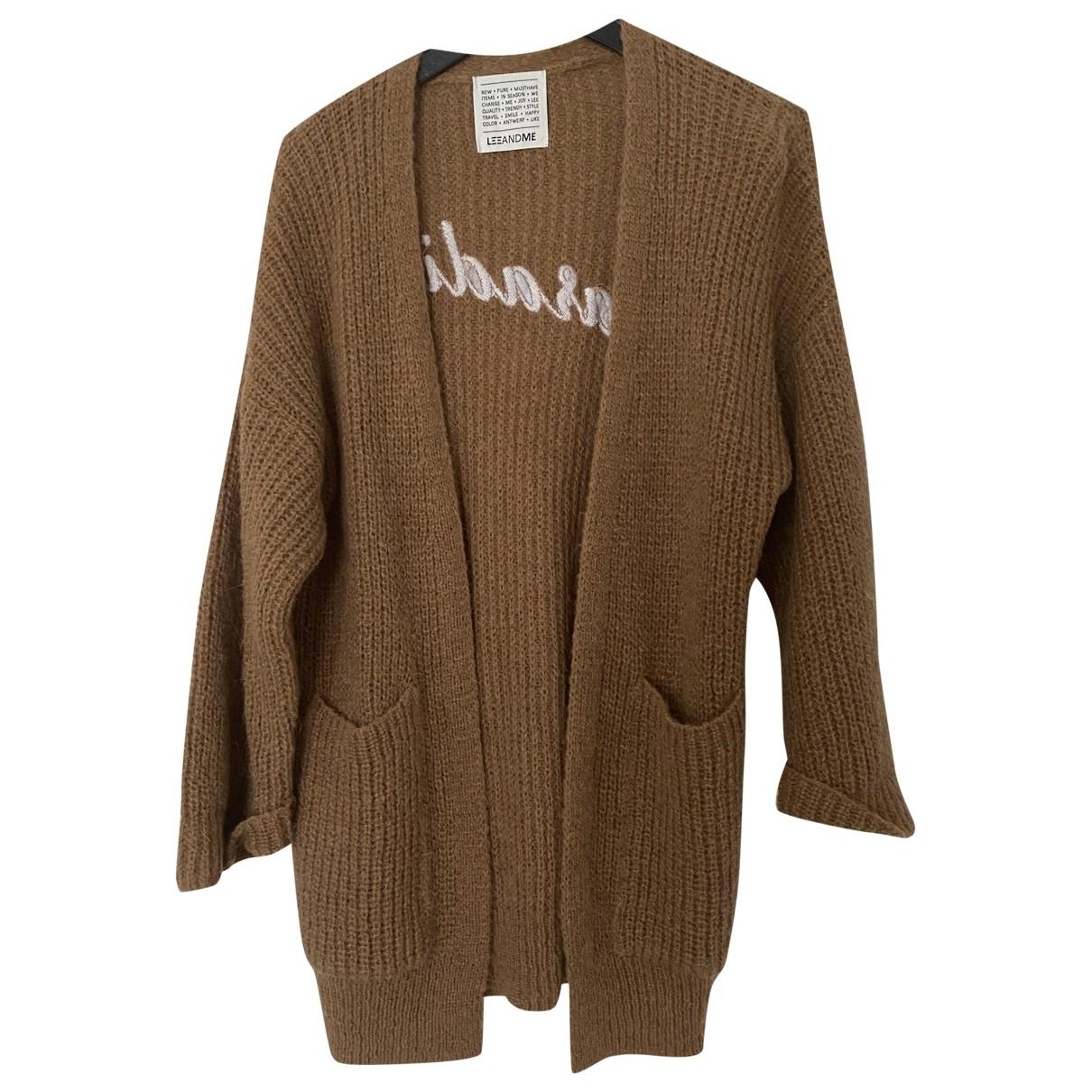 Leeandme - Pull   pour femme en laine - camel
