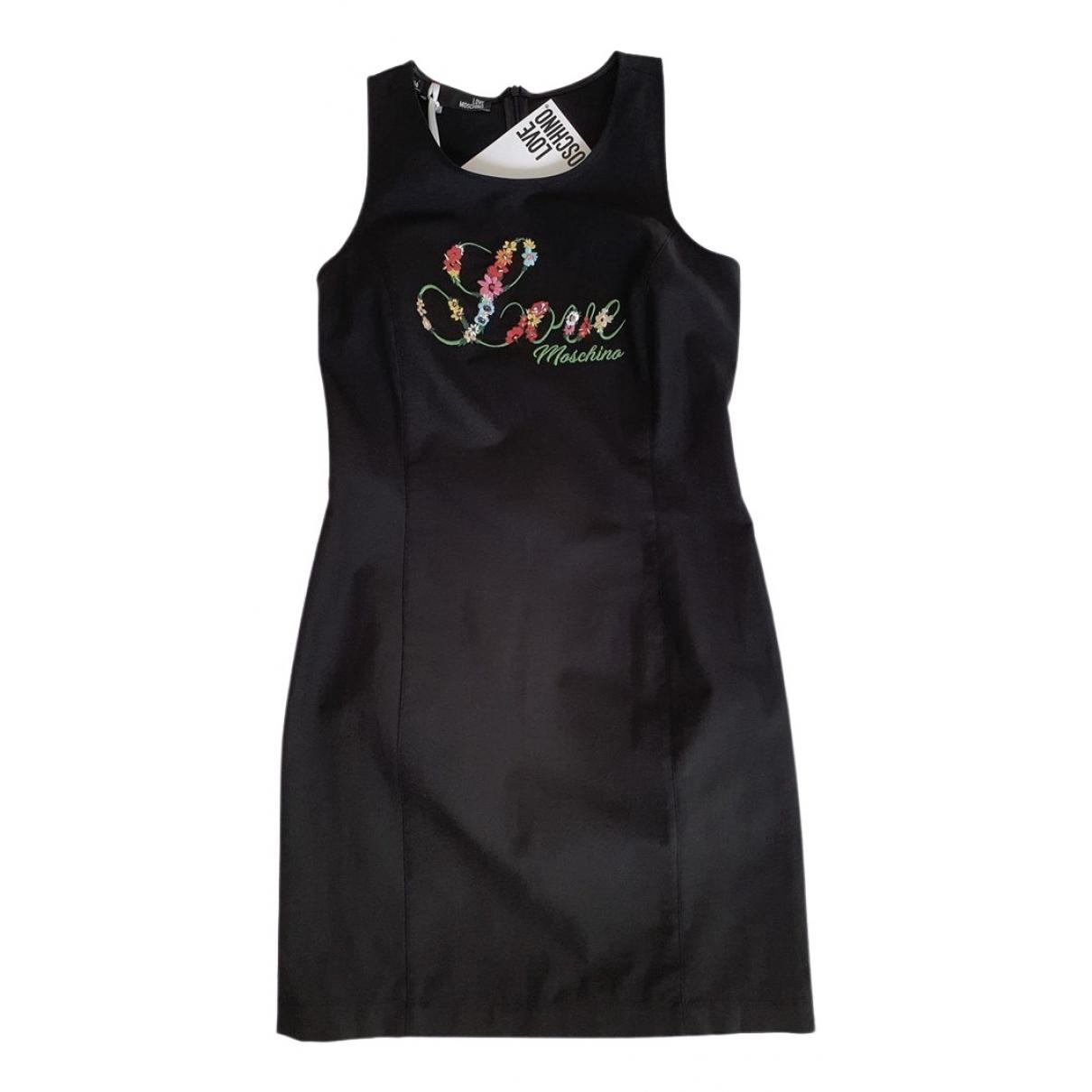 Moschino Love \N Black Cotton dress for Women 44 IT