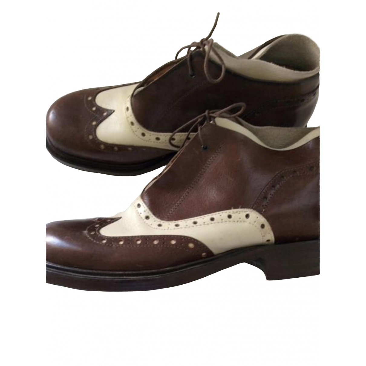 Non Signé / Unsigned \N Leather Boots for Men 42 IT