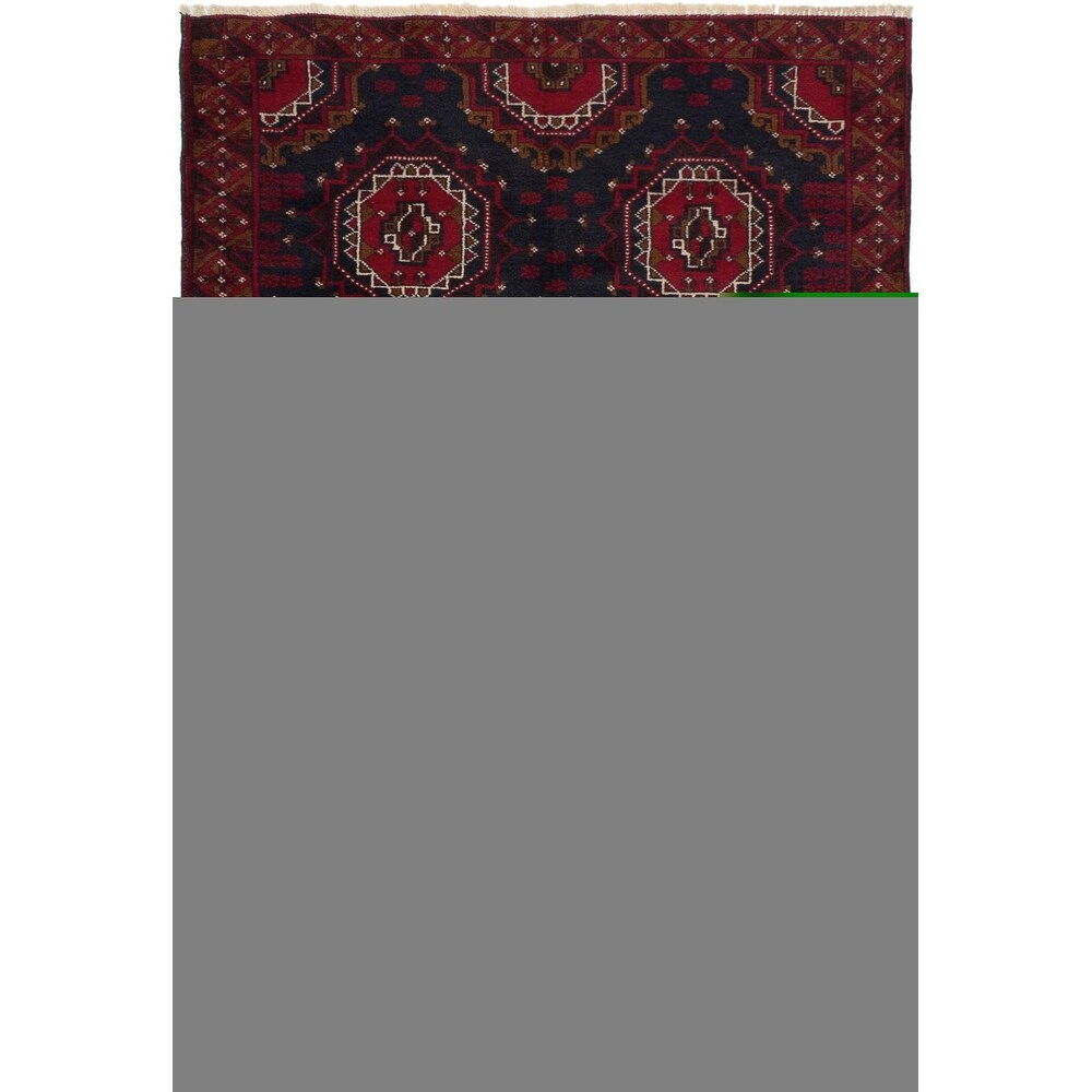 ECARPETGALLERY Hand-knotted Rizbaft Red Wool Rug - 3'5 x 5'7 (Red - 3'5 x 5'7)