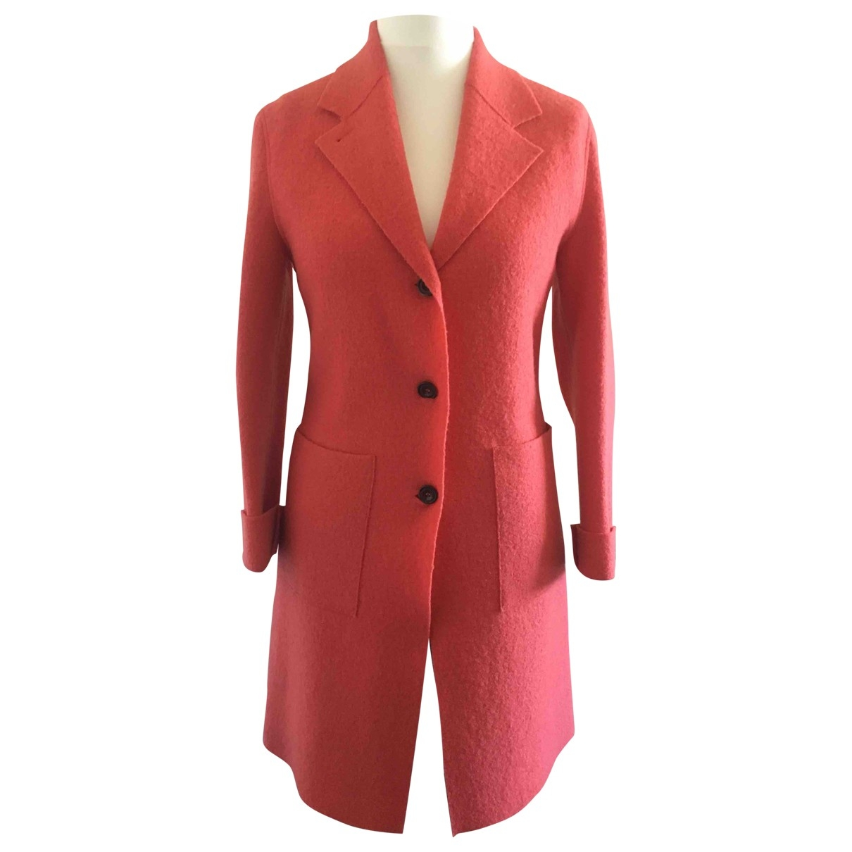 Non Signé / Unsigned \N Red Wool coat for Women 42 IT