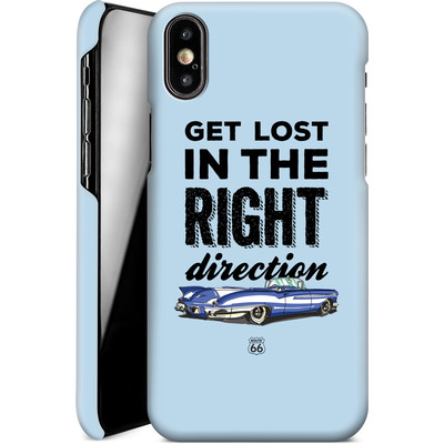 Apple iPhone XS Smartphone Huelle - ROUTE 66 Get Lost in the Right Direction von ROUTE 66