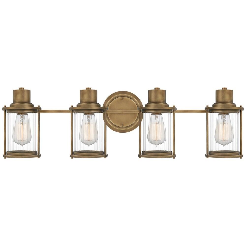 Quoizel Riggs Weathered Brass 4-light Bath Light (Weathered Brass)