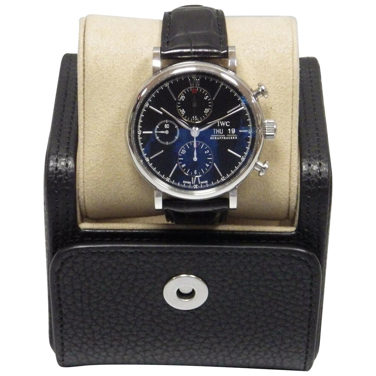 Iwc Portofino Uhr in  Schwarz Stahl