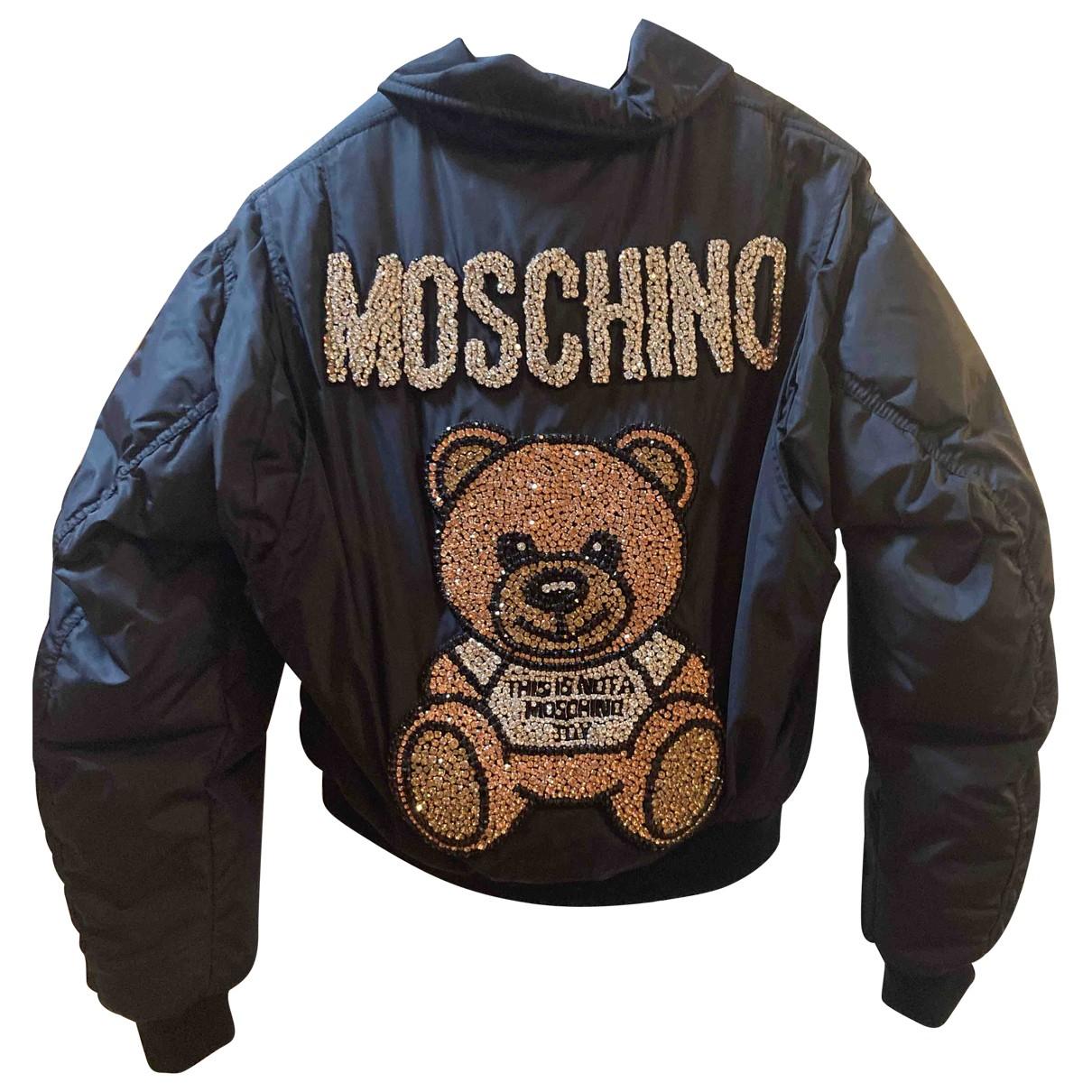 Moschino \N Jacke in  Schwarz Synthetik