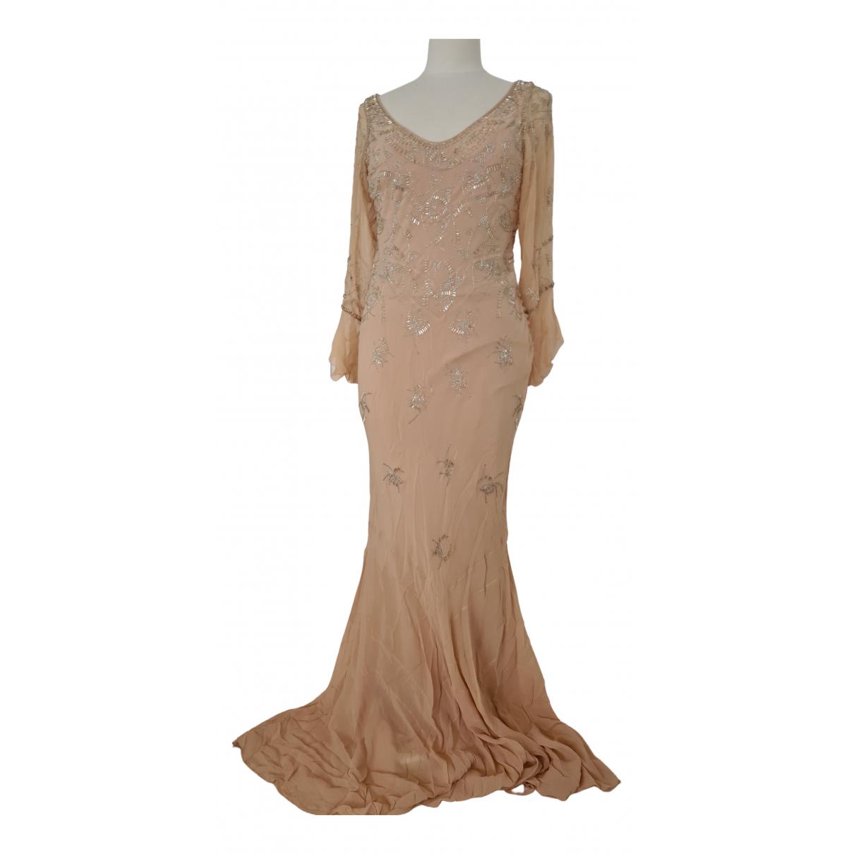 Dior N Beige Silk dress for Women 44 IT