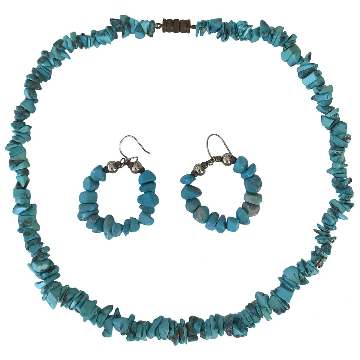 - Parure Turquoises pour femme en acier - turquoise