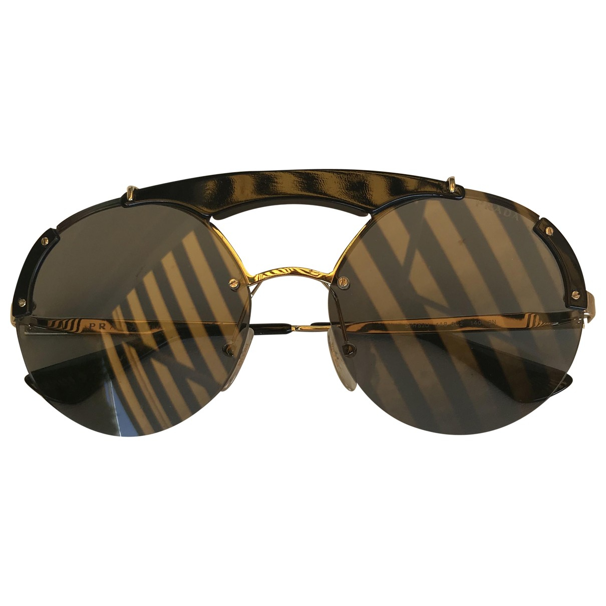 Prada \N Black Metal Sunglasses for Women \N
