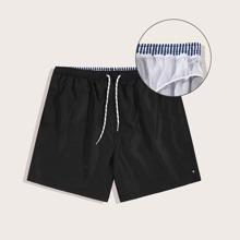Maenner Winddichte Strand Shorts mit Kordelzug um die Taille