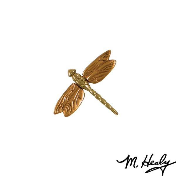 Micahel Healy Designs Dragonfly in Flight Door Bell Ringer, Polished Brass and Bronze