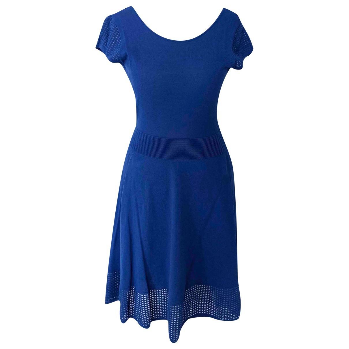 Claudie Pierlot Fall Winter 2019 Kleid in  Blau Viskose