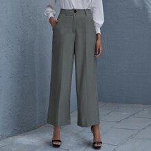 Slant Pocket Wide Leg Pants