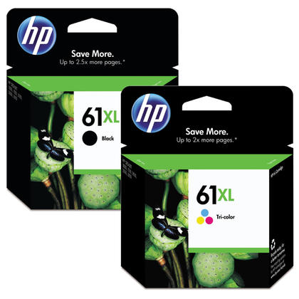 HP 61XL Original Black and Tri-color Ink Cartridge Combo