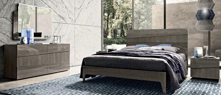 Tekno TEKNOBEDQS-2NSDRMR 5-Piece Bedroom Set with Queen Sized Bed  2 Nightstands  Dresser and Mirror in
