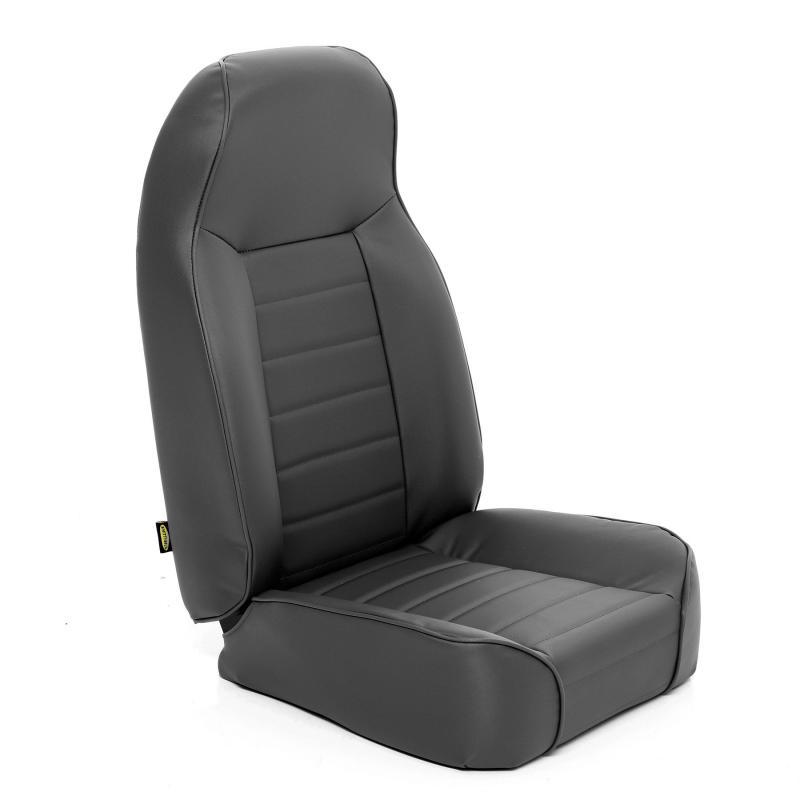 Front Seat Standard Bucket 76-14 Wrangler CJ/YJ/TJ/LJ/JK Denim Black Smittybilt