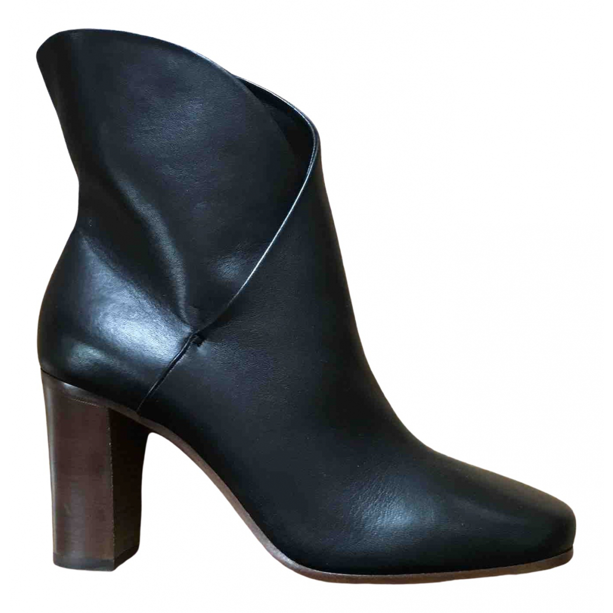 Celine \N Black Leather Ankle boots for Women 38 EU