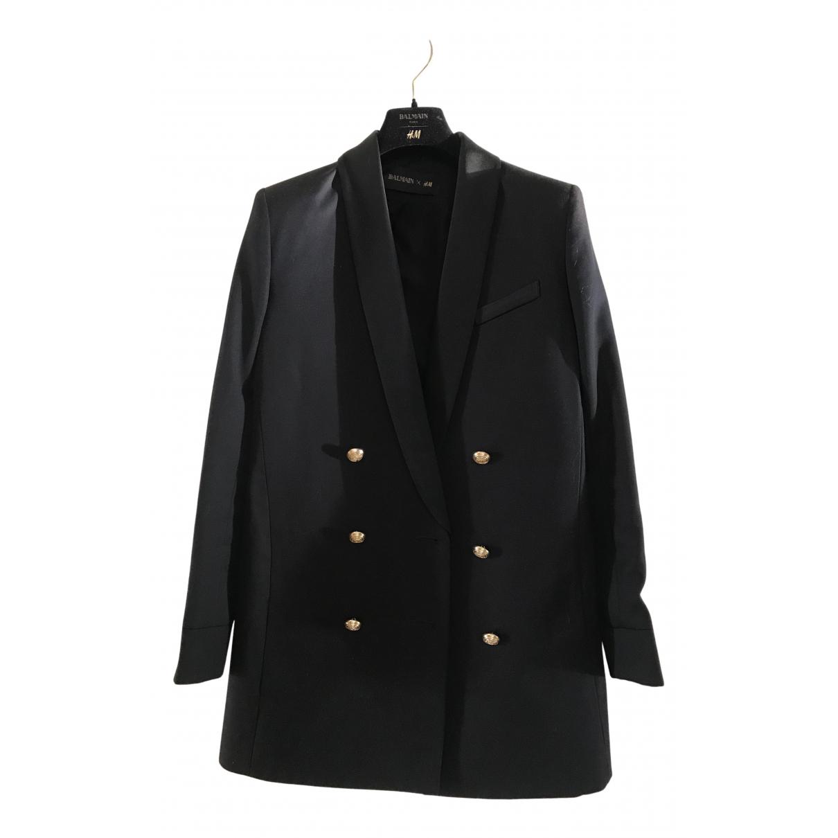 Balmain For H&m - Veste   pour femme en coton - noir