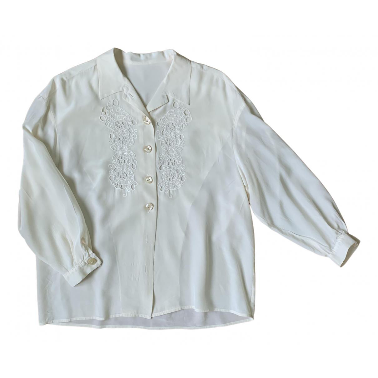 - Top Oversize pour femme en soie - beige