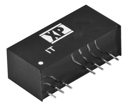 XP Power IT 3W Isolated DC-DC Converter Through Hole, Voltage in 18 → 75 V dc, Voltage out ±5V dc