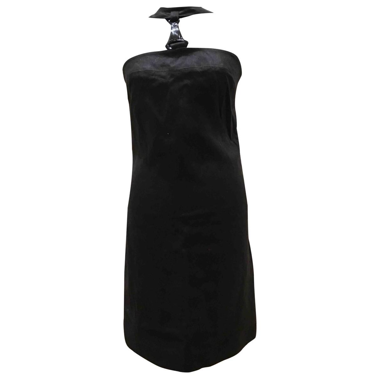 Versace \N Black Linen dress for Women 42 IT