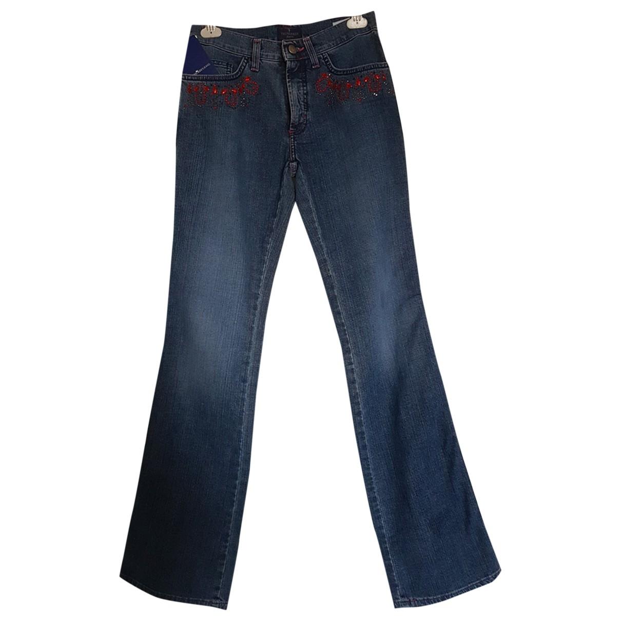 Trussardi Jeans \N Blue Cotton - elasthane Jeans for Women 27 US
