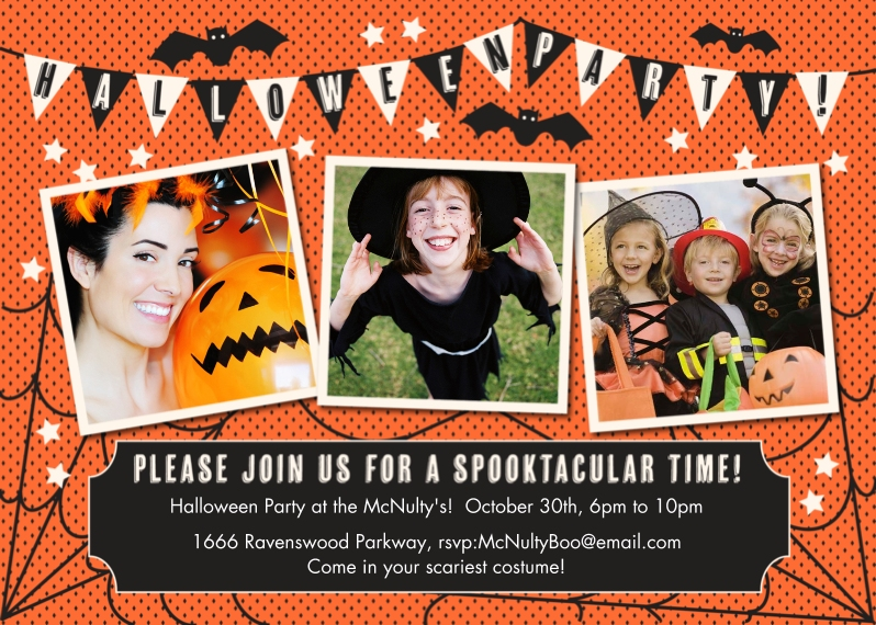 Halloween Photo Cards 5x7 Cards, Premium Cardstock 120lb, Card & Stationery -Get Batty!