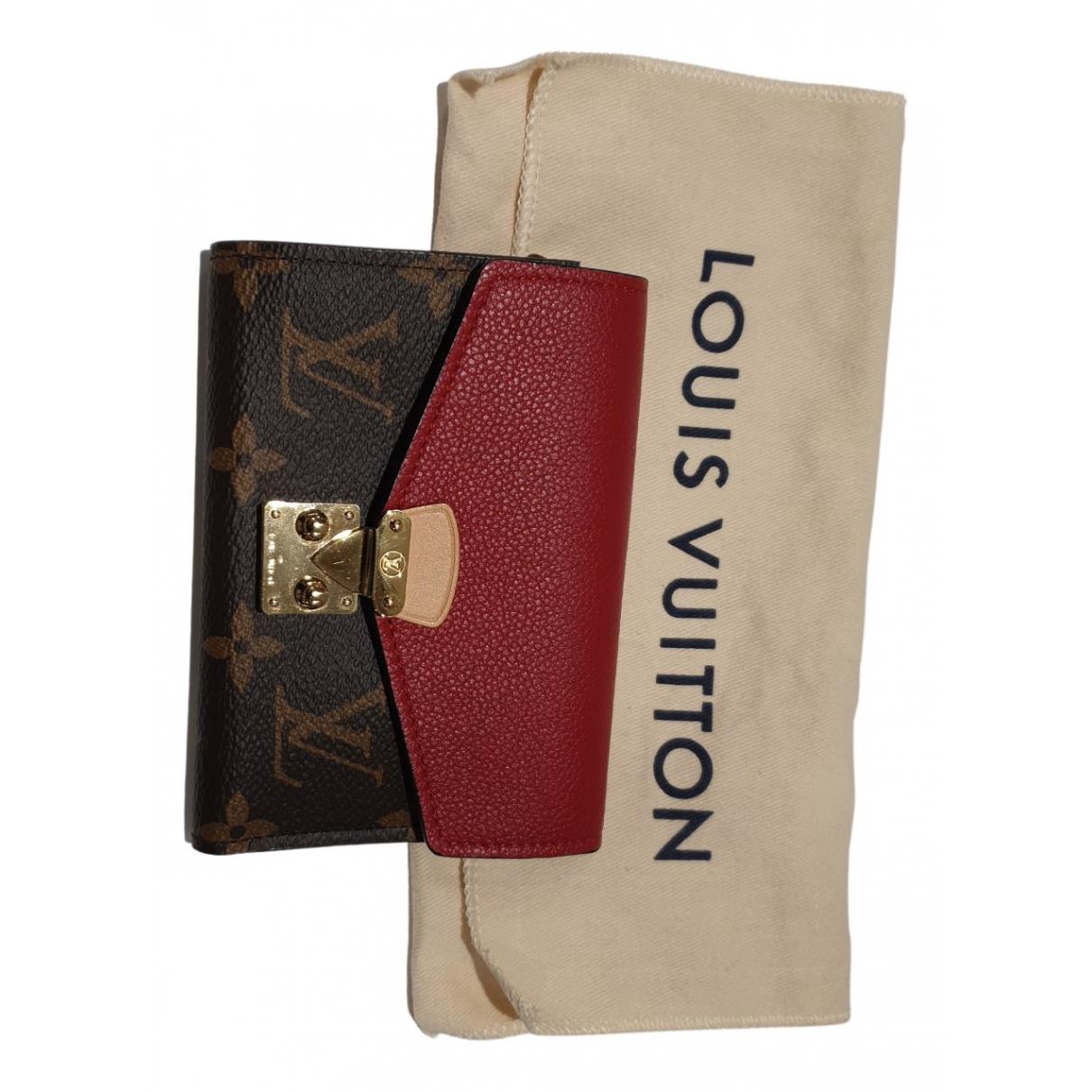 Louis Vuitton Pallas Portemonnaie in  Bunt Leinen
