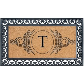 A1HC Rubber and Coir, 30 x 48 Inch, Standard Double/Single Heavy Doormat, Large Size, Rubber Backed, Outdoor Mat (T)