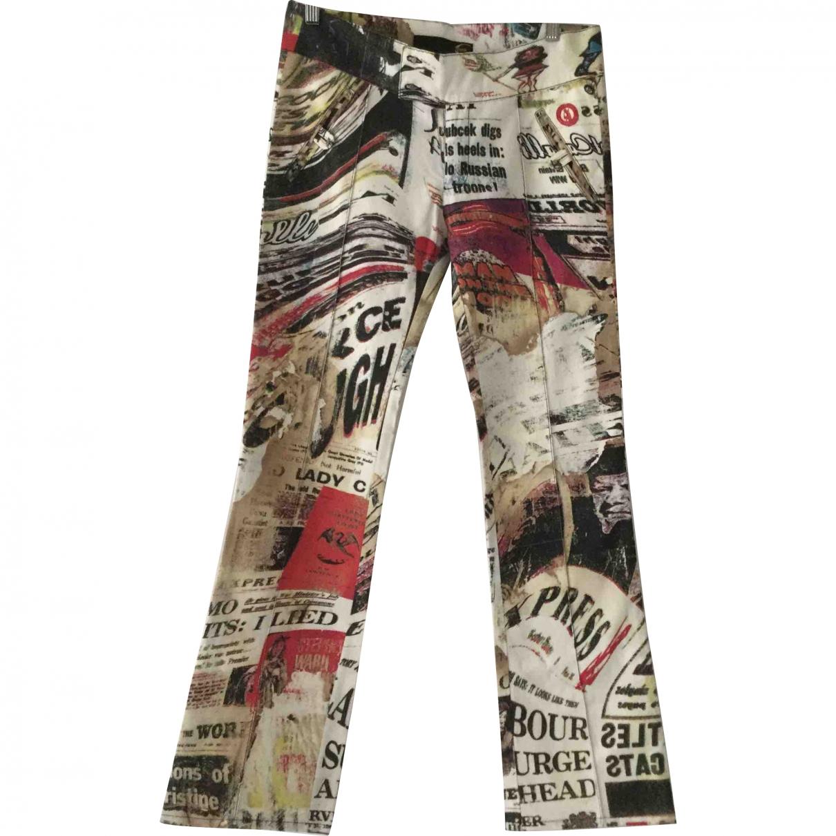Just Cavalli \N Multicolour Cotton Trousers for Women 42 IT