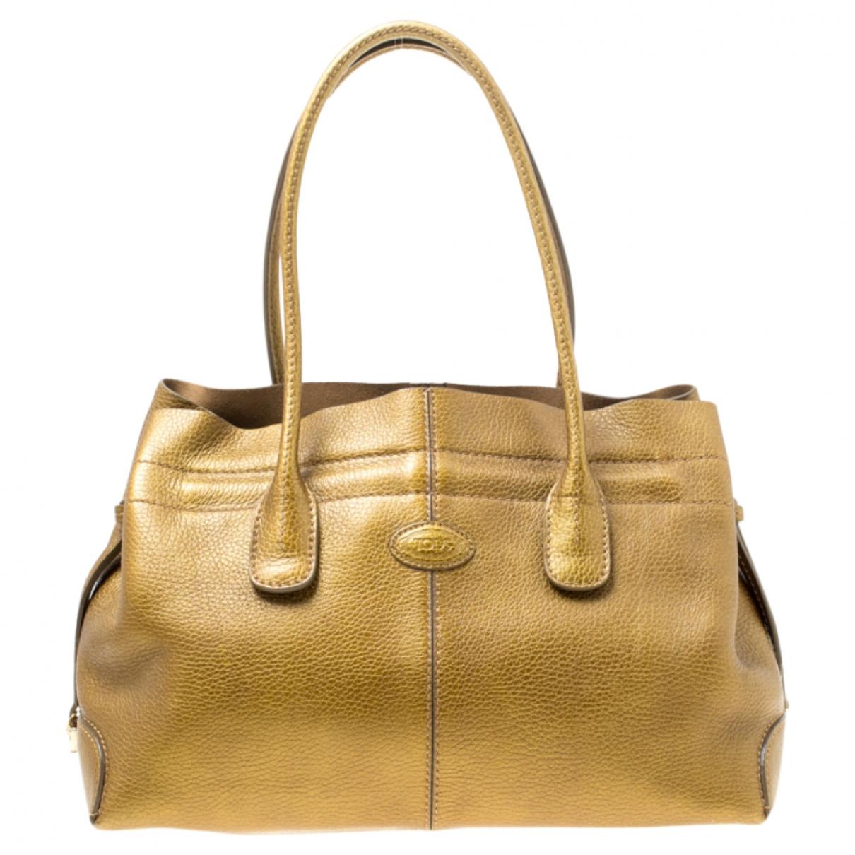 Tod's \N Handtasche in  Metallic Leder