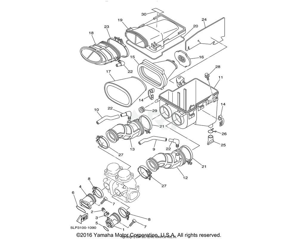 Yamaha OEM 5LP-14451-01-00 ELEMENT, AIR CLEANER