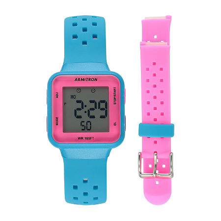 Armitron Prosport Womens Chronograph Multicolor Strap Watch-45/7123nbpst, One Size , No Color Family