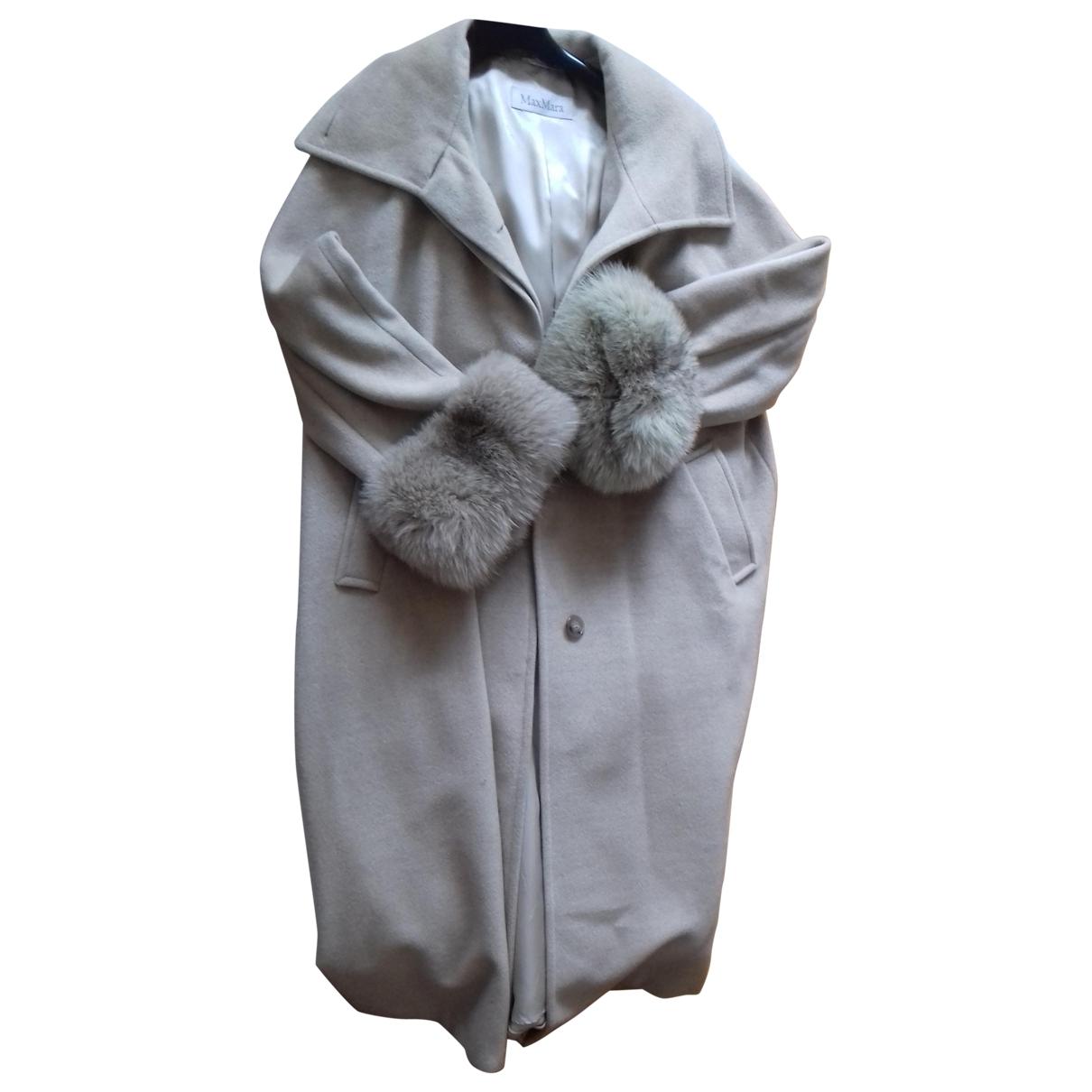 Max Mara \N Ecru Wool coat for Women 36 FR