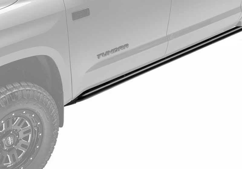 N-Fab T074RKRQC RKR Rails Textured Black Toyota Tundra Double Cab All Beds 07-18