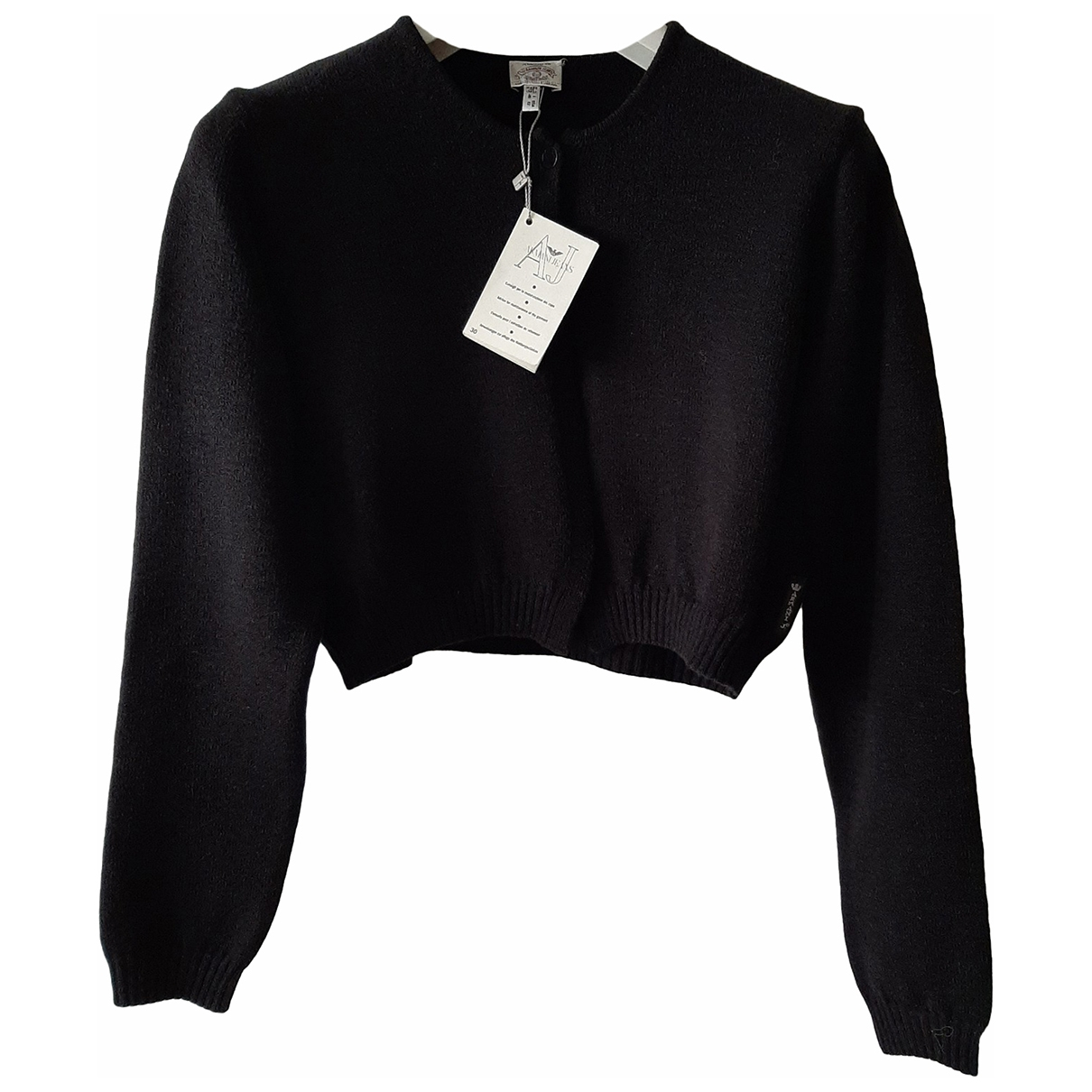 Armani Jeans \N Pullover in  Schwarz Wolle