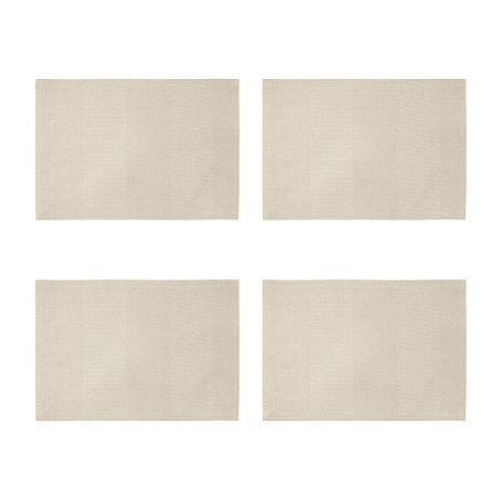 Homewear Bristol 4-pc. Placemat, One Size , Beige