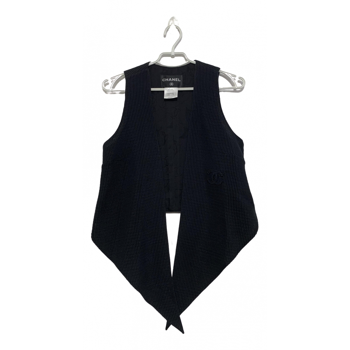 Chanel - Veste   pour femme en coton - noir