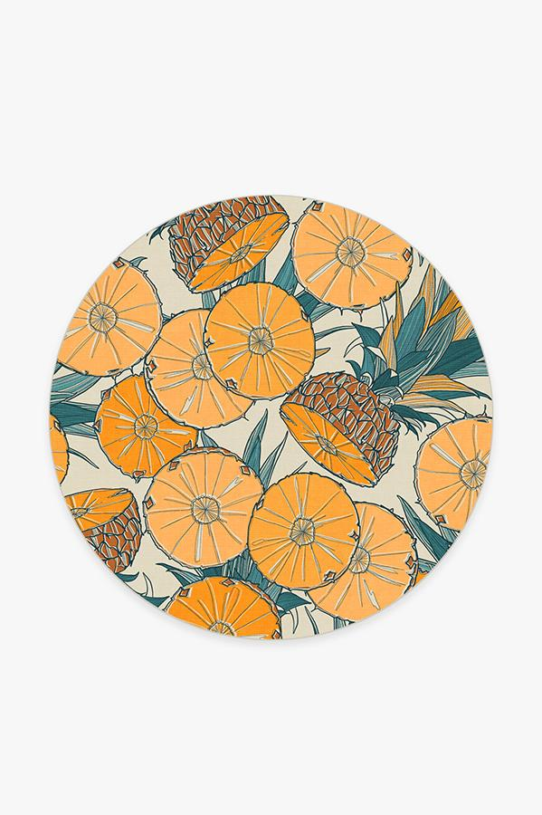 Washable Rug Cover | Tupi Tangerine Rug | Stain-Resistant | Ruggable | 6 Round
