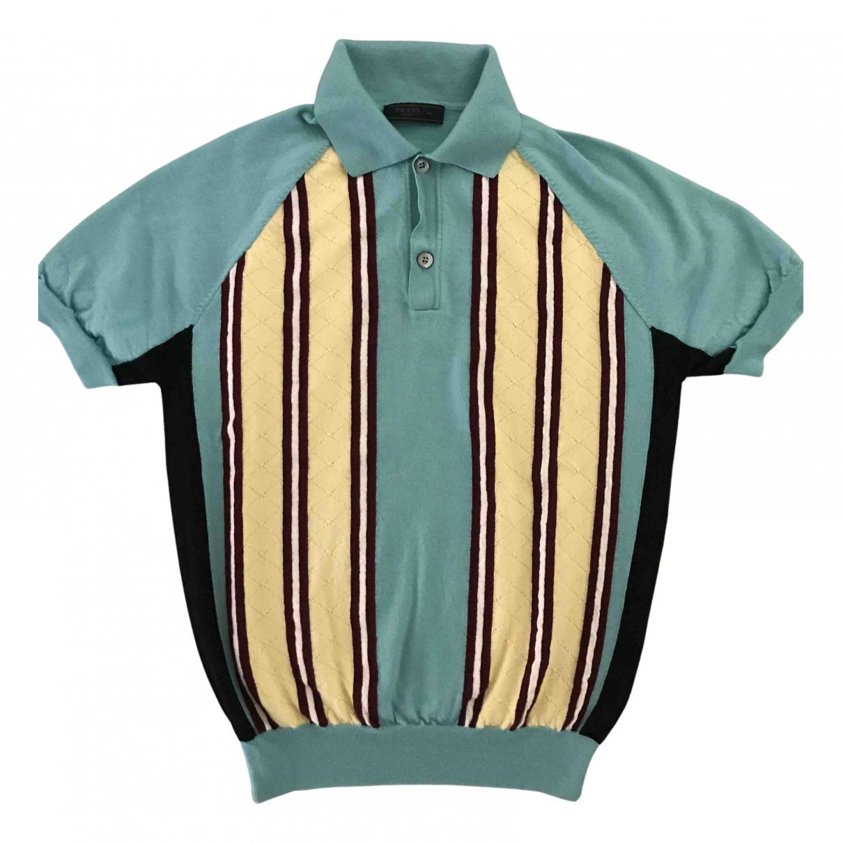 Prada N Turquoise Polo shirts for Men 48 IT